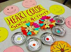 Heart colour sorting